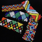 Handmade Indian Style Multi Color Seed Bead Stretch Bracelet .54 ea