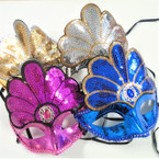 "6"" X 8"" Sequin Headress Mask Asst Colors .60 ea"