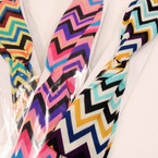 Trending Multi Color Chevron Pattern Headband w/ Elastic .41 ea
