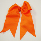 "6"" X 8"" All Orange Gator Clip Bow w/ Tails .54 ea"