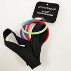 """3/4"""" Wide Black NO-SLIP Silicone Headwrap w/Bright Color  Ponyo's .50 per set"""