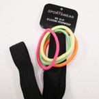 "3/4"" Wide Black NO-SLIP Silicone Headwrap w/ Neon Color  Ponyo's .50 per set"
