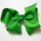 "6"" Kelly Green Gator Clip Bow  .45 ea"