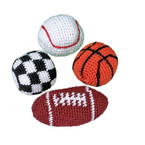 "2"" Sports Theme  Haki Sac  Kickballs 12 per pk Only .45 ea"