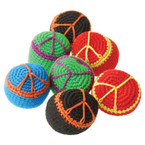 "2"" Peace Sign Theme  Haki Sac  Kickballs 12 per pk Only .50 ea"