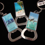 "3"" Scenic Metal Florida Keychain w/ Bottle Opener .54 ea"