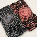 "4"" Wide Two Tone Knit Headwrap w/ Fury Flower $ 2.00 ea"