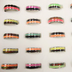 TWO TONE Style Changing Color Mood Band Rings 36 per bx ONLY .44 ea