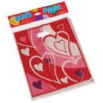 8 Pk Valentine Plastic Loot Bags 12-8 pks per bag .25 per 8 pk