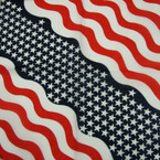 "21"" Square Bandana USA Wavy Stars & Stripes .60 ea"
