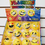 "2"" Mixed Style Popular Emoji Flashing Rubber Balls Balls 12 per bx  .58 ea"