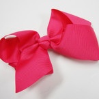 "6"" All Hot Pink Color Gator Clip Fashion Bow .45 ea"