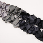 "6"" Gray Tones & Black  Color Gator Clip Fashion Bow .45 ea"