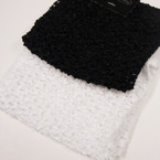"5"" Blk & White Crochet Stretch Headwraps .42 ea"