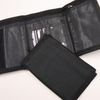 Unisex All Black Tri Fold Velcro Wallets .56 ea