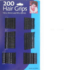 NEW 200 Count Black Bobbie Pin Set .55 ea set