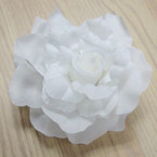 "5"" Silk Flower Bows All White Color 3 in 1 Use .52 ea"
