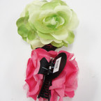 "5"" DBL Flower Jaw Clip Bows Asst  Colors  .54 ea"