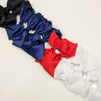 """6"""" Gro Grain Bow on Gator Clip 4 Asst School Colors .45 ea"""