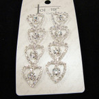 "Best Quality 3""  4 Tier Heart Rhinestone Fashion Earrings sold by pc $ 1.50 ea"