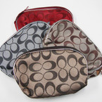 "5.5"" ""C"" Pattern Design Zipper Vinyl Bag Asst Colors .58 ea"