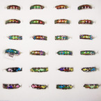 Best Quality Hand Painted Band Mood Rings 36 pc display bx ONLY .60 ea