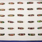 Best Quality Asst Saying Band Mood Rings 36 pc display bx ONLY .50 ea