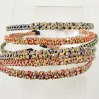 Fashionable Wrapped Headband w/ AB Color Crystal Stones .54 ea