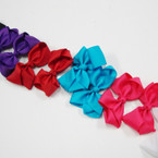 "3.5-4"" Mixed Color Gator Clip Fashion Bow .27 ea"