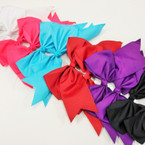 "6"" X 6"" Cheerleader Tail Bows on Gator Clip  .54 ea"