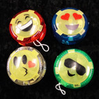 "2"" Light Up Emoji Theme Sports YoYo 12 per pk .56 ea"