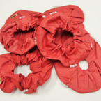 CLOSEOUT Red w/ Pearl Parachute Feel Hair Twisters .21 ea