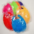 """6"""" Asst Color Interlocking Banana Combs .54 per set"""