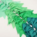 "6"" X 8"" Cheerleader Tail Bows on Gator Clip Mixed Green Tones .54 ea"