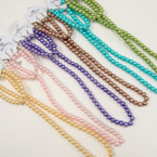 "18"" Asst Color Glass Pearl Neck Set w/ Bracelet .58 ea"