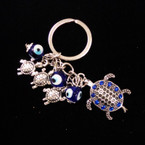 Great Value Turtle Keychain w/ Mini Turtle & Glass Eye Beads .54 ea