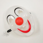 "9"" Oval Halloween Clown Mask w/ Red Nose .52 ea"