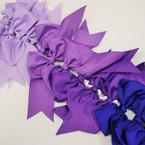 "6"" X 8"" Cheerleader Tail Bows on Gator Clip Mixed  Purple Tones .54 ea"