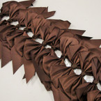 "6"" X 8"" Cheerleader Tail Bows on Gator Clip All Brown .54 ea"