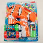 "Big 7"" X 7.5"" Fish Bubble Gun w/ Light & Music sold by pc $3.50 each"