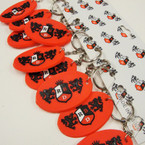 RBD Rebelde Oval Silicone Keychains All Red 12 per pk  .25 ea