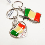 CLOSEOUT I Love Italy Flag Keychains  12 per pk @  .25 ea