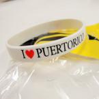 I Love Puerto Rico Silicone Band Bracelets 12 per pk .25 ea