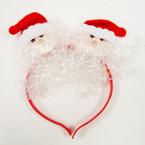 SPECIAL Santa Face w/ Snow Christmas Headbands  .58 ea