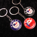 Best Quality I Love Texas Metal Round Keychains 12 per pk @ .52 ea