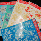 "8"" X 12"" Holiday Window Decor Clings 24 per pk Mixed .50 ea"