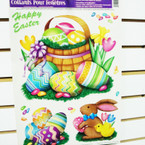"12"" X 16"" Easter Window Clings 12 per pk @ .60 ea sheet"
