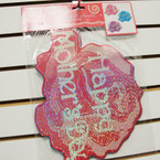 "CLOSEOUT 3 Pk 13"" Laser Cut Mother's Day Cutouts 24-sets per sale .25 ea set"