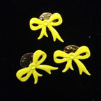 "CLOSEOUT 1/2"" Yellow Ribbon Tac Pins 12 per pk @ .04 ea"