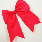 "6"" X 8"" All Hot Pink Color Gator Clip Bow w/ Tails .54 ea"